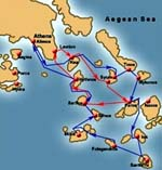 Cyclades itineraries